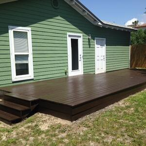 Deck vs patio cost how much does a deck cost vs a paver for How much does composite decking weigh