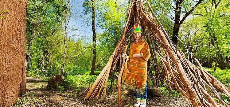 Repurpose fallen branches, bamboo stakes, or other wood for a make-shift shelter