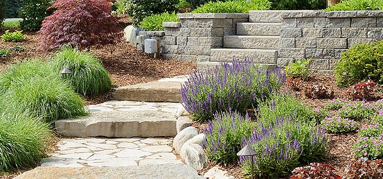 Integrate more hardscaping to define areas of your landscape