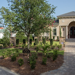 Greenearth provided the complete landscaping services for Jim and Ann Barri's new Sandestin home