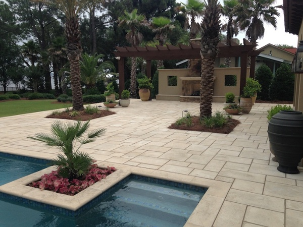 pool hardscape Holt panama city